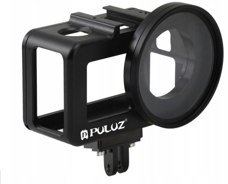 Obudowa aluminiowa Puluz do DJI osmo action z mocowaniem do filtrów 52 mm i filtrem UV 52 mm