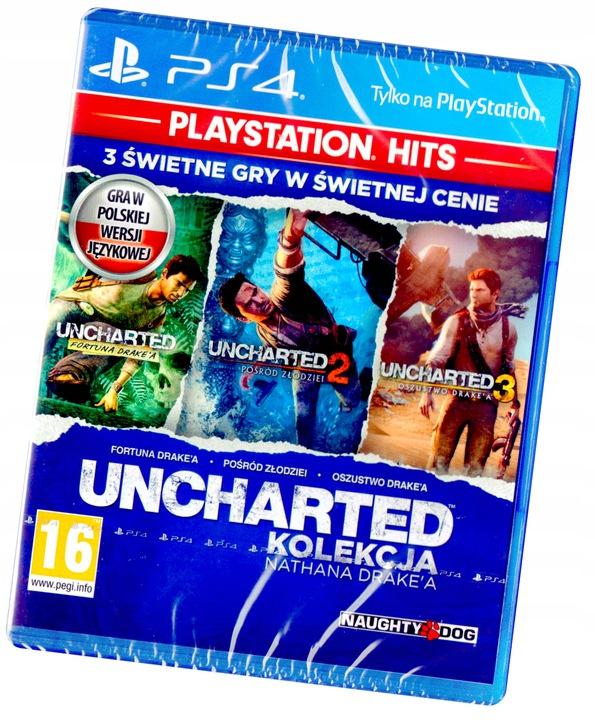 Uncharted Kolekcja Nathana Drake'a PS4 3 Gry PL