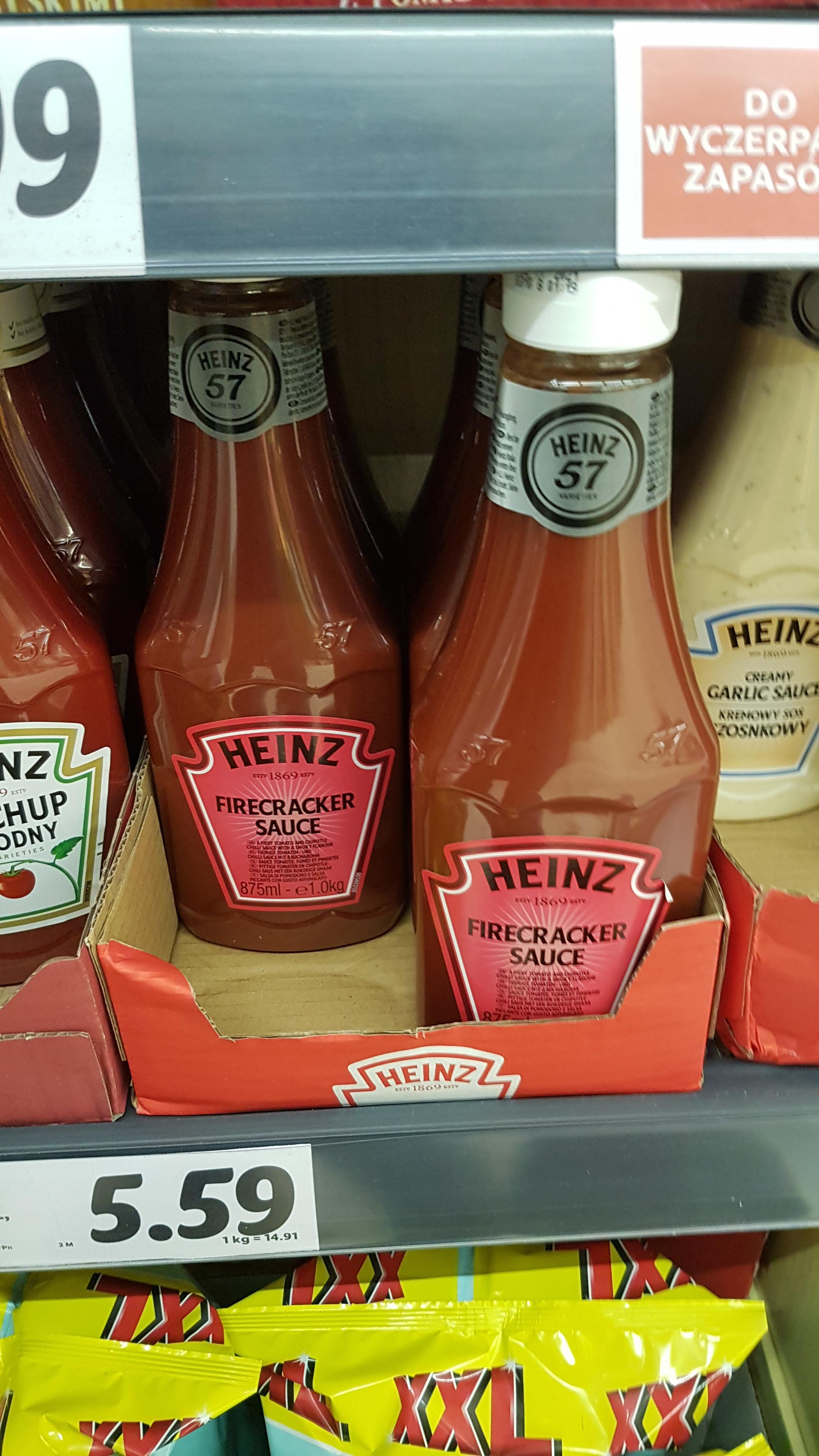 Sos Heinz Firecracker 875 ml w Lidlu