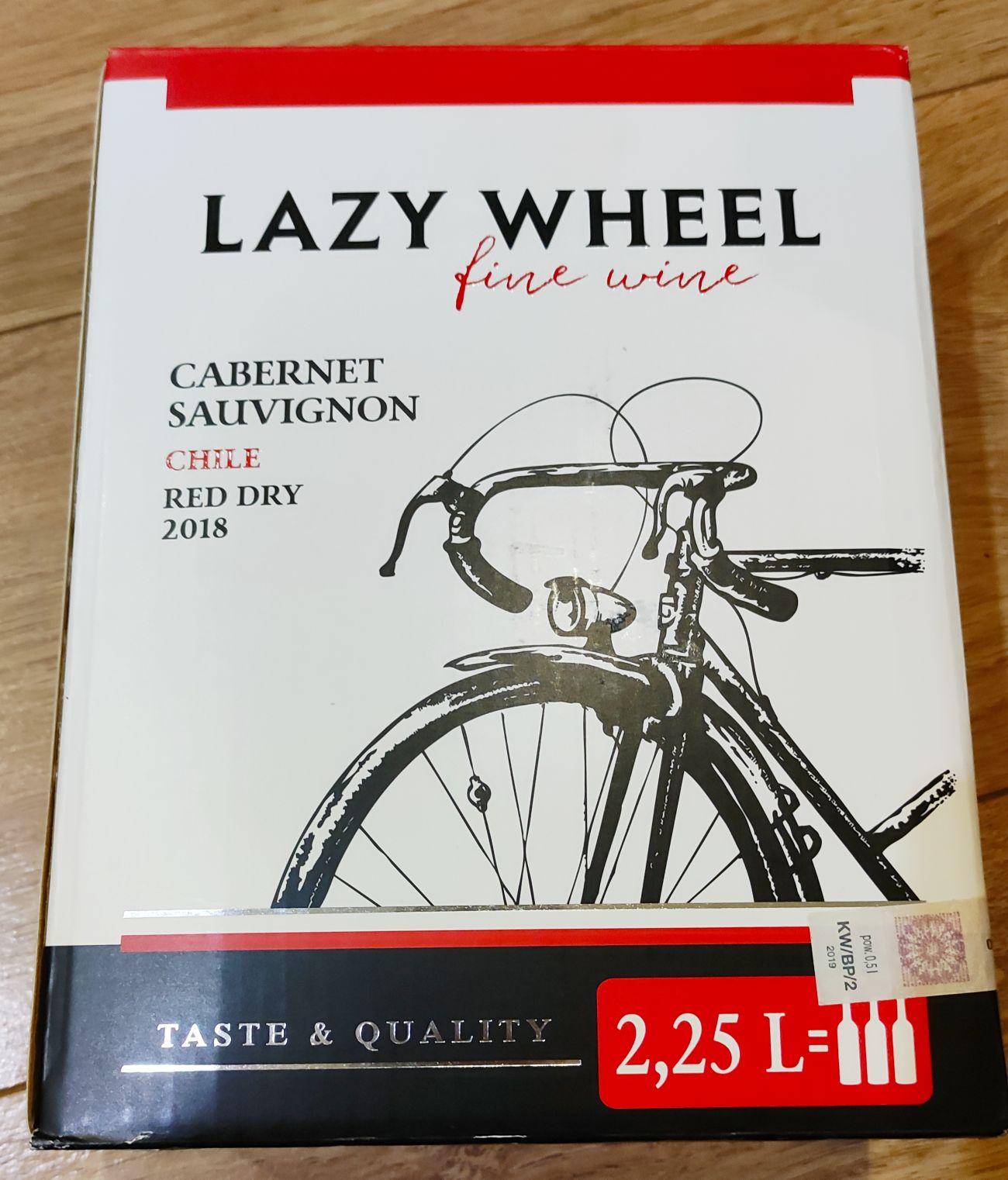Wino Lazy Wheel Cabernet Sauvignon Chile 2018 Red Dry poj. 2.25L - Biedronka