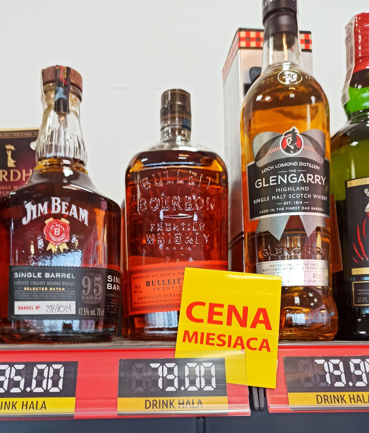 Bulleit Bourbon Frontier Whiskey 45% 07l promocja Drink Hala.