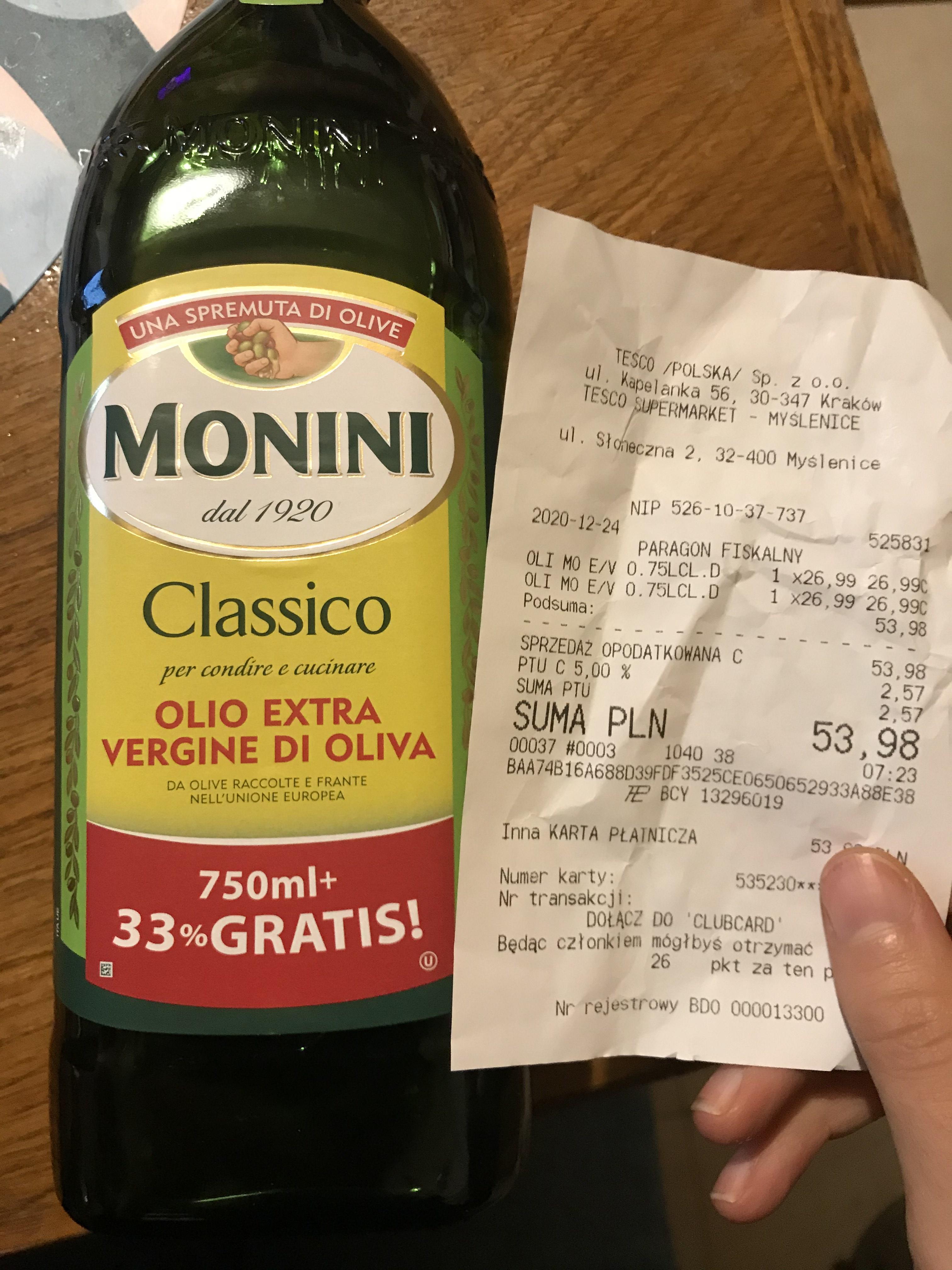 Oliwa z oliwek Monini Classico 1l