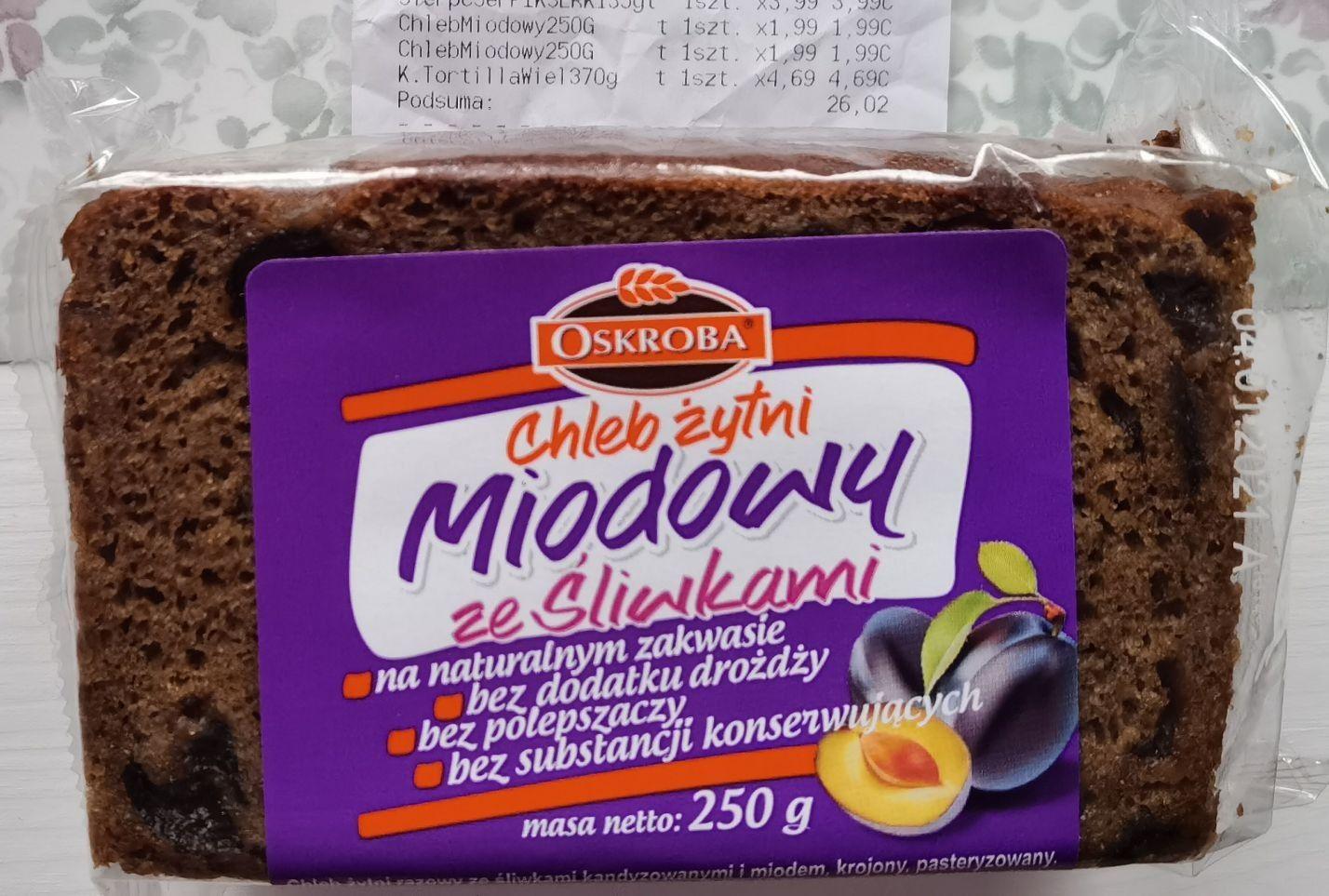Kaufland: chleb żytni Oskroba miodowy ze śliwkami za 1,99 - błąd?