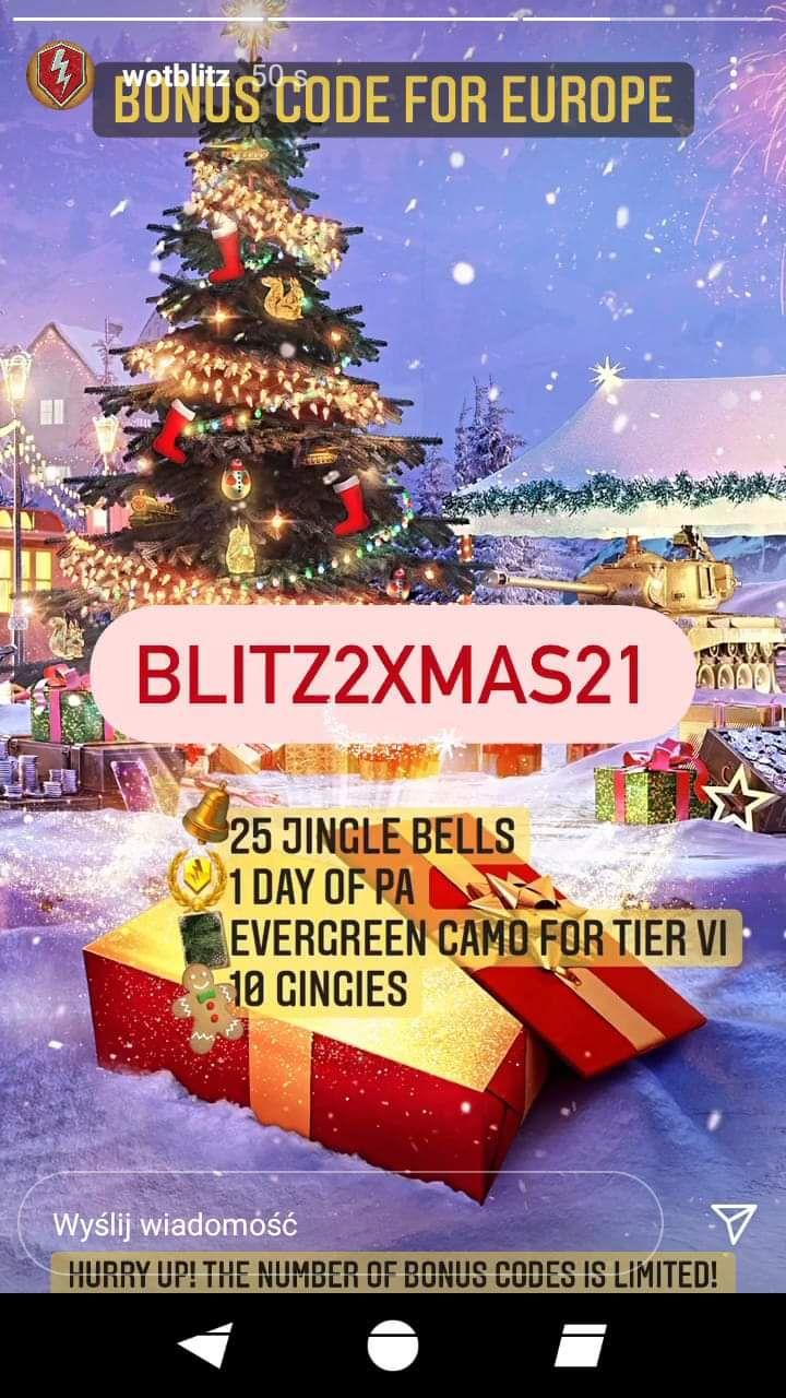 4 Kody bonusowe WOT blitz