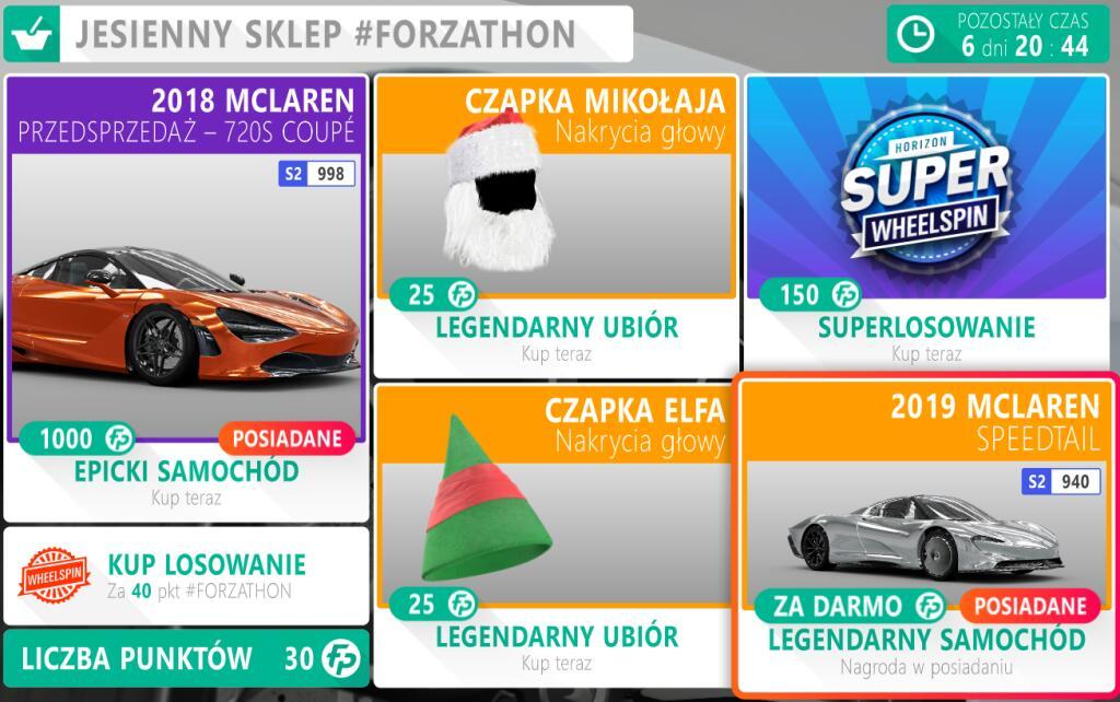 McLaren Speedtail za darmo w Forzathon Shopie - Forza Horizon 4