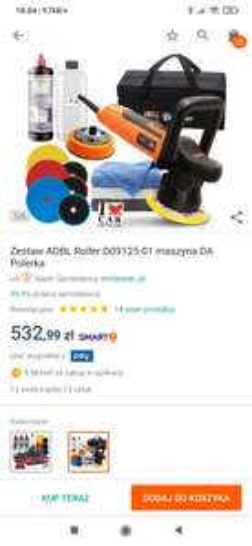 Zestaw ADBL Roller D09125-01 maszyna DA Polerka