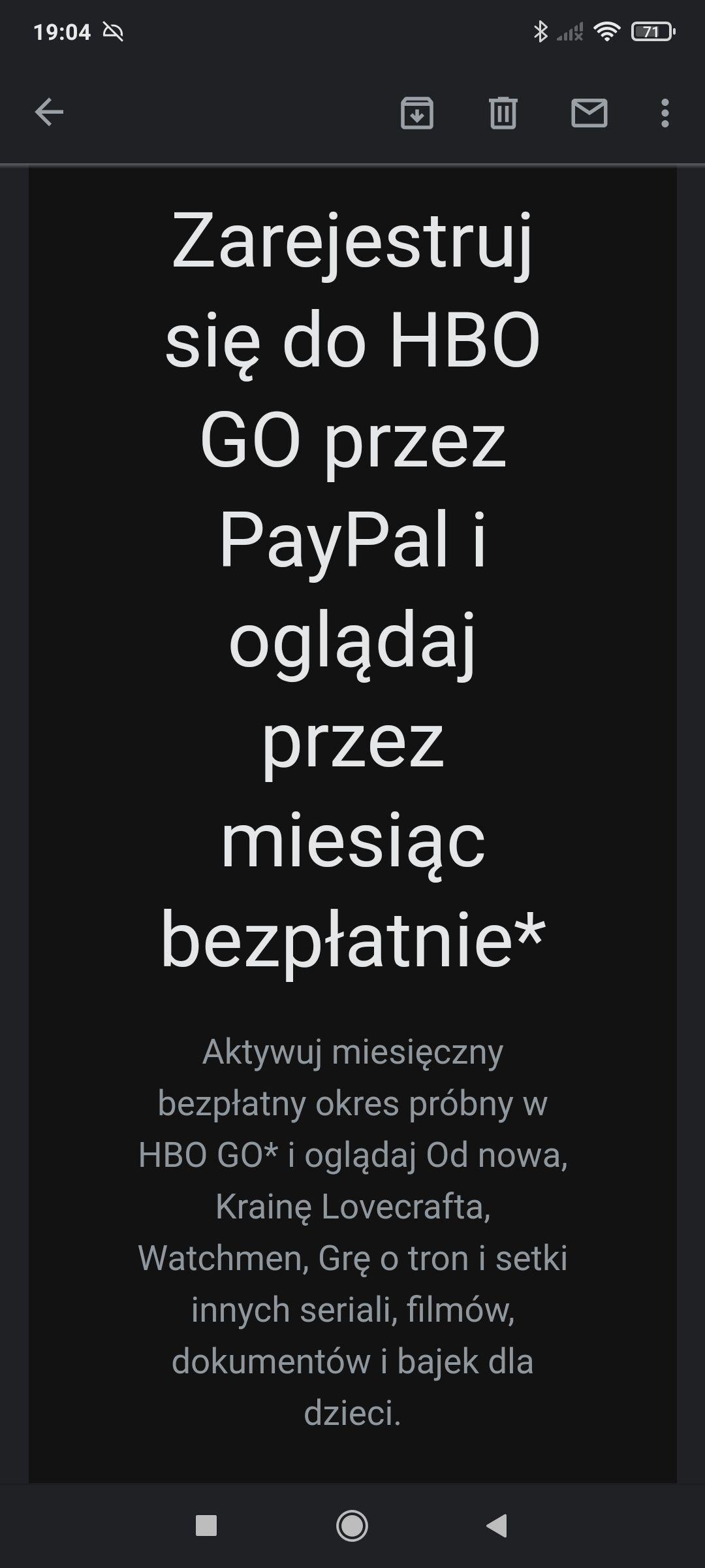 Zarejestruj się do HBO GO przez PayPal i oglądaj przez miesiąc bezpłatnie*