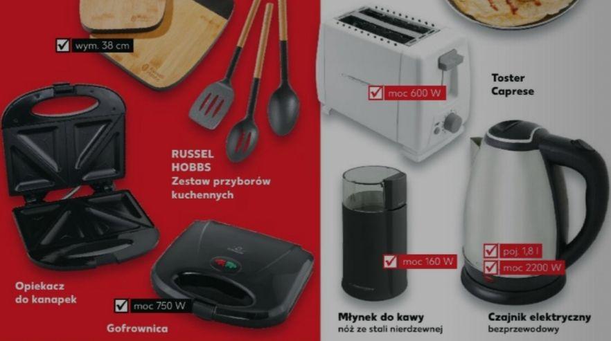 Opiekacz do kanapek, gofrownica, toster lub czajnik elektryczny Kaufland