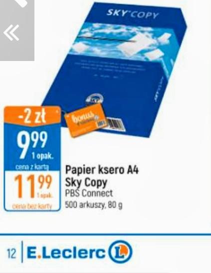 Papier ksero A4 Sky Copy,PBS Connect ,500 arkuszy 80g w Leclerc