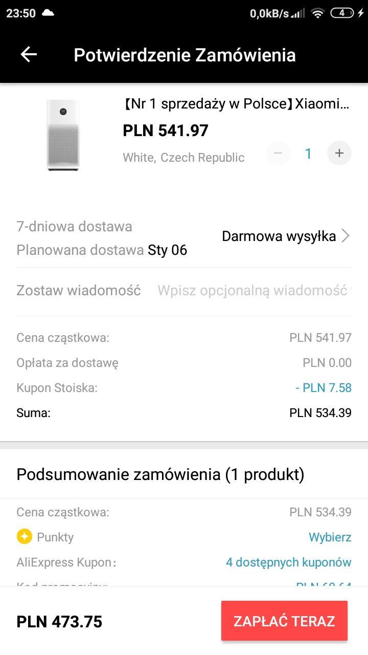 Oczyszczacz powietrza Xiaomi Air Purifier 2S US $124.99
