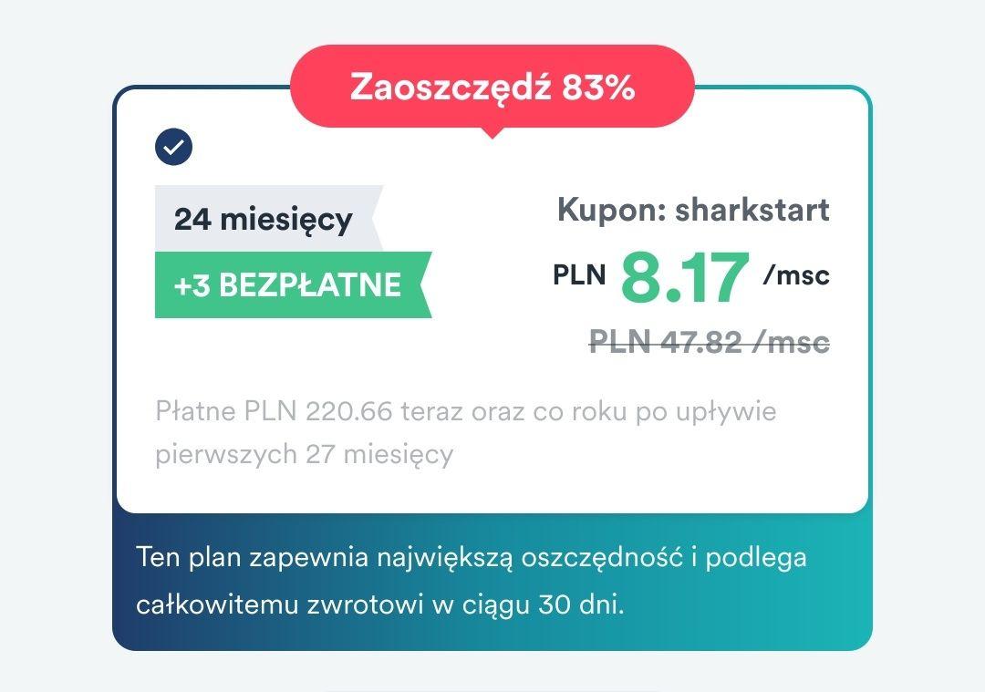 Surfshark 83% zniżki + 3 msc. za darmo
