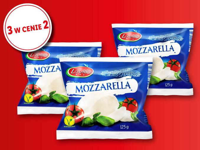 Ser mozzarella LOVILIO 3 w cenie 2 - Lidl