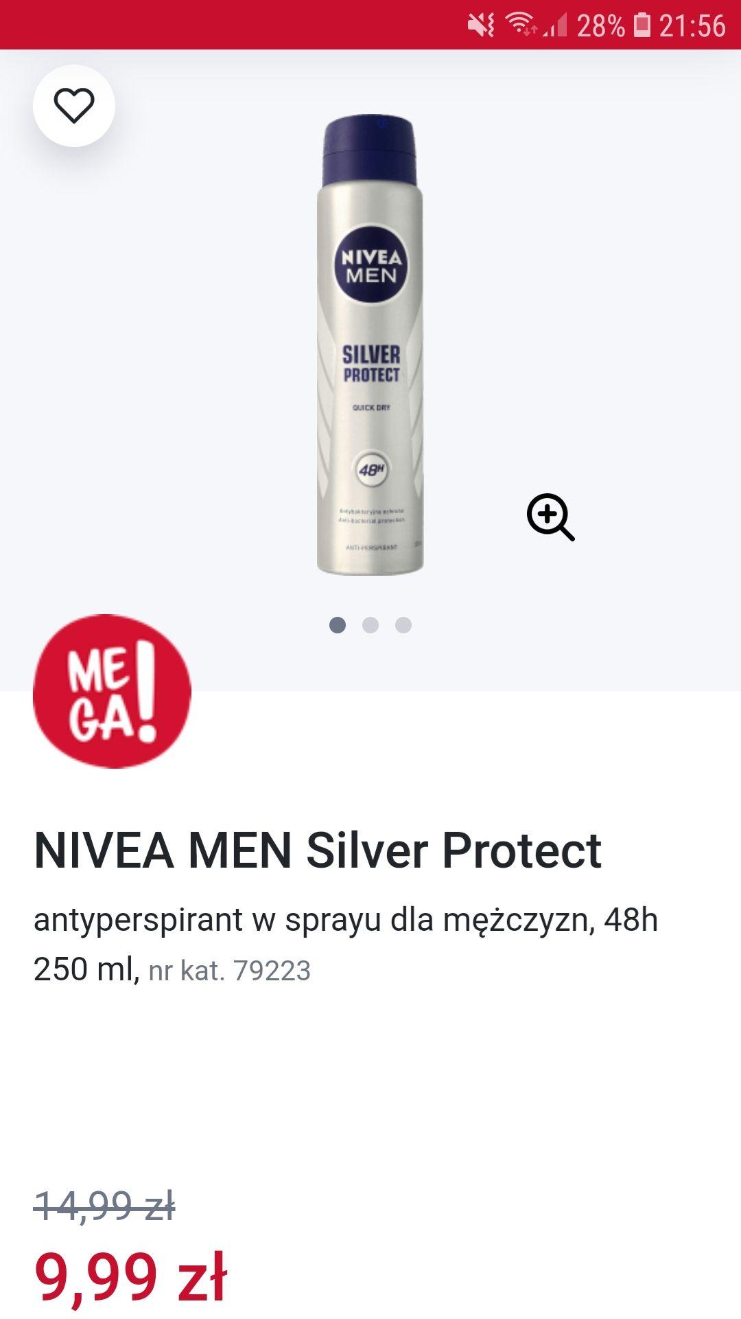 Antyperspirant Nivea Silver protect 250ml.