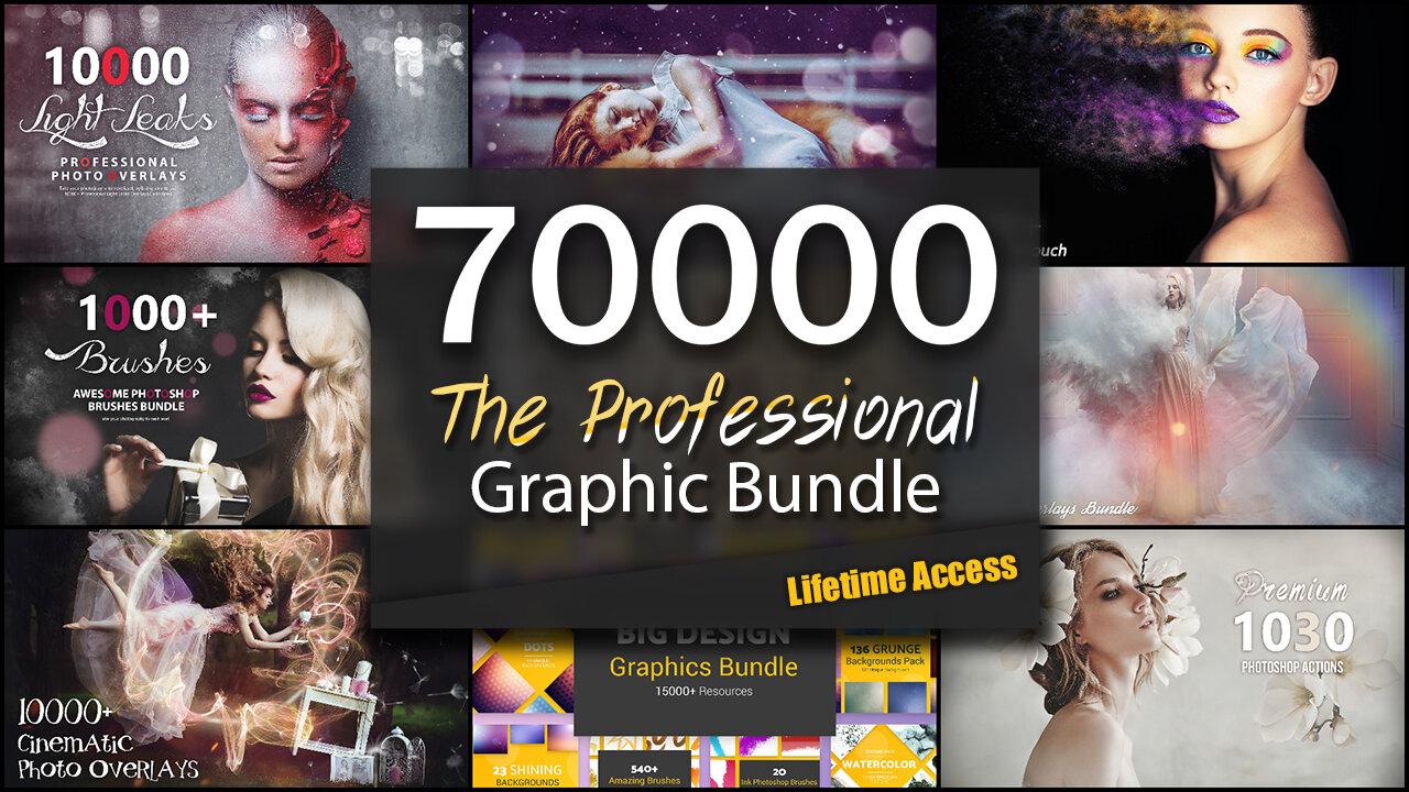 Profesjonalny zestaw zasobów graficznych 70 000+