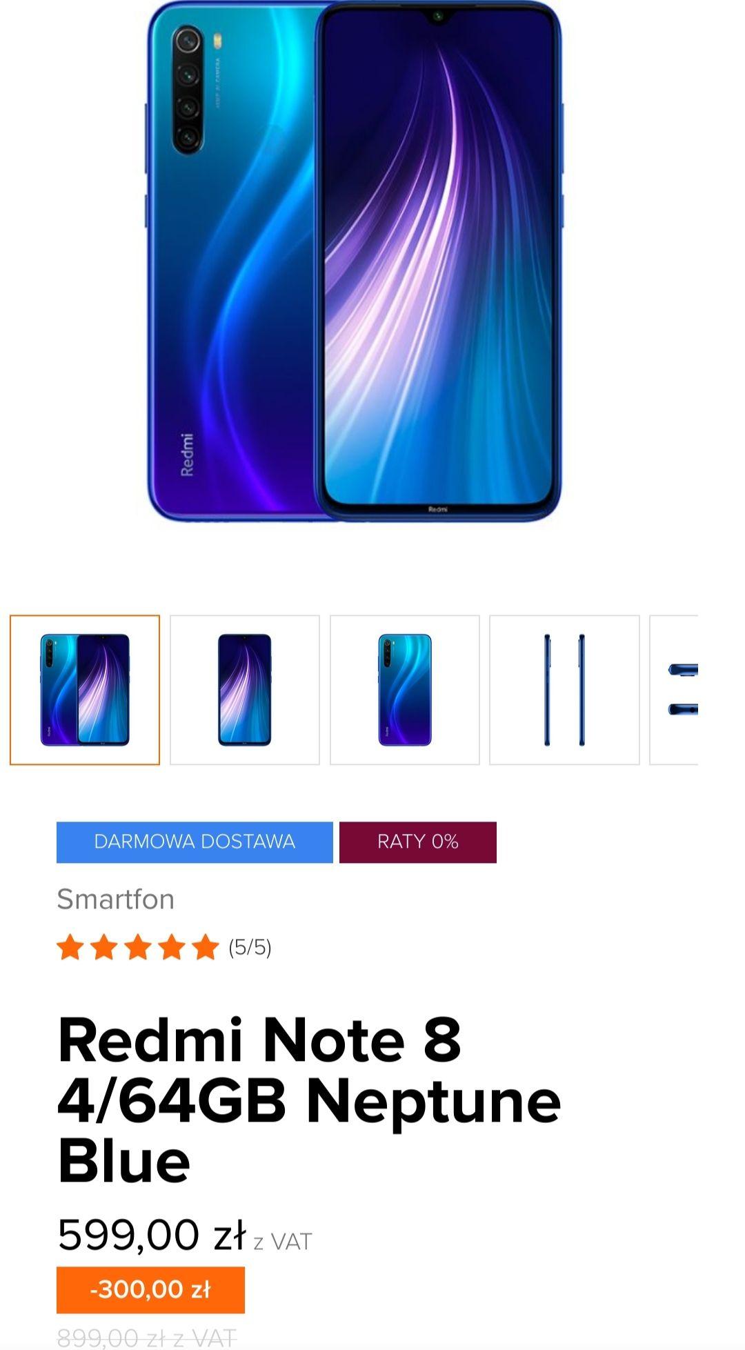 Xiaomi Redmi Note 8 4/64GB Neptune Blue