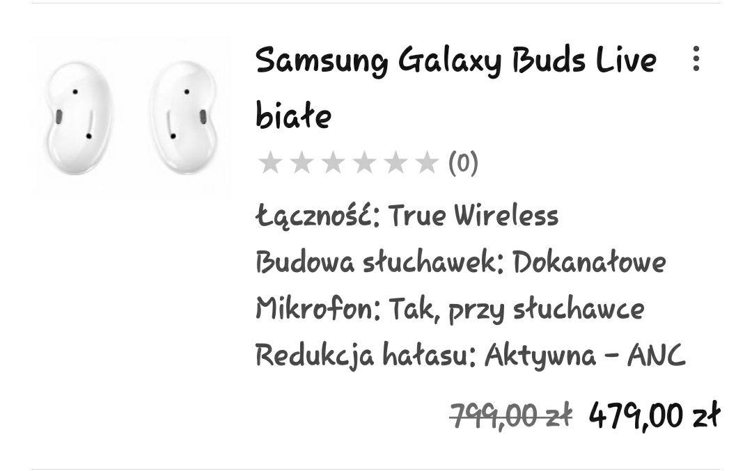 Galaxy Buds Live (Białe)