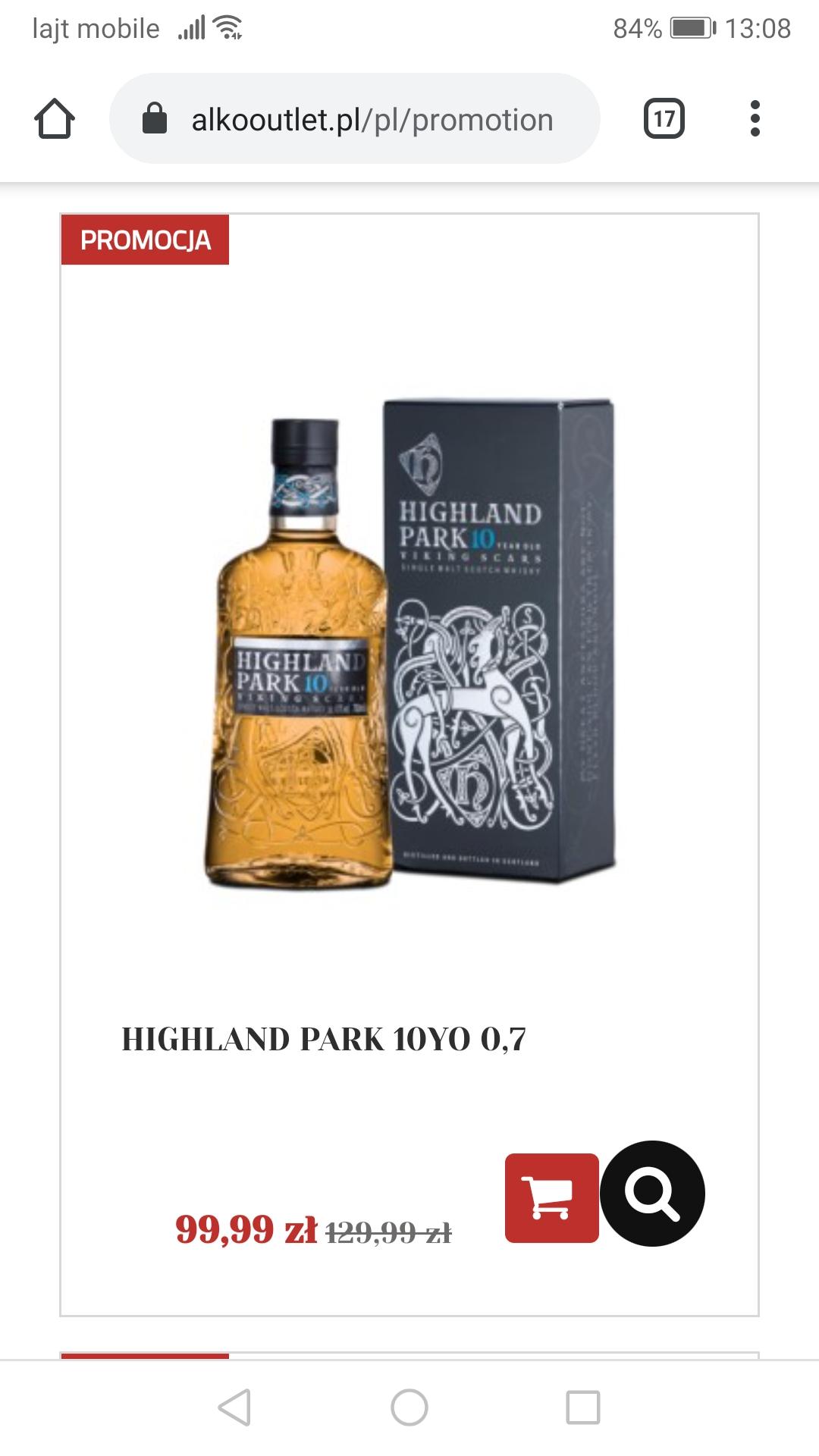Whisky Highland Park 10 0.7 Sklep Alkooutlet