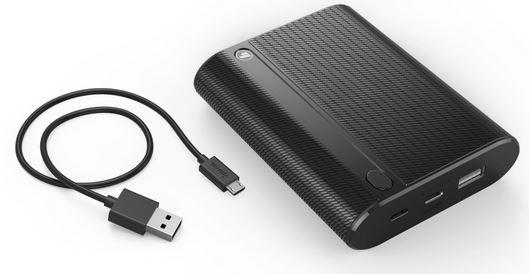 Powerbank 10400 mAh HAMA Powerpack X10 ( w zestawie Adapter micro USB – USB-C, dwa gniazda: micro USB oraz USB-C )