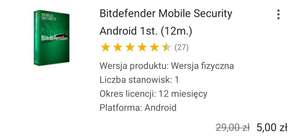 Bitdefender Mobile Security Android 1st. (12m.)