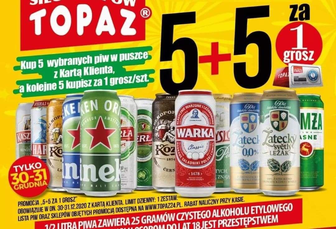 Kup 5 wybranych piw w puszce z Kartą Klienta a kolejne 5 otrzymasz za 1 grosz