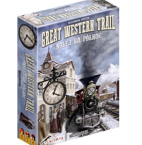 gra planszowa Great Western Trail: Kolej na Północ (rozszerzenie)