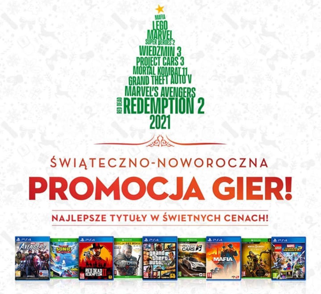 Świąteczno noworoczna wyprzedaż gier Media Expert + koszulki w zestawach pc/ps4/ps5/xbox one/ xboxx