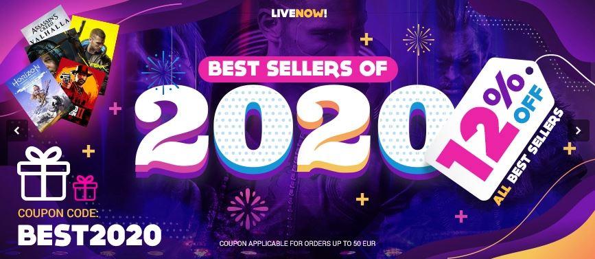 Gamivo, -12% na bestsellery 2020, między innymi Cyberpunk 2077 (GOG) za około 150 zł, Horizon Zero Dawn (Steam) za 83 zł