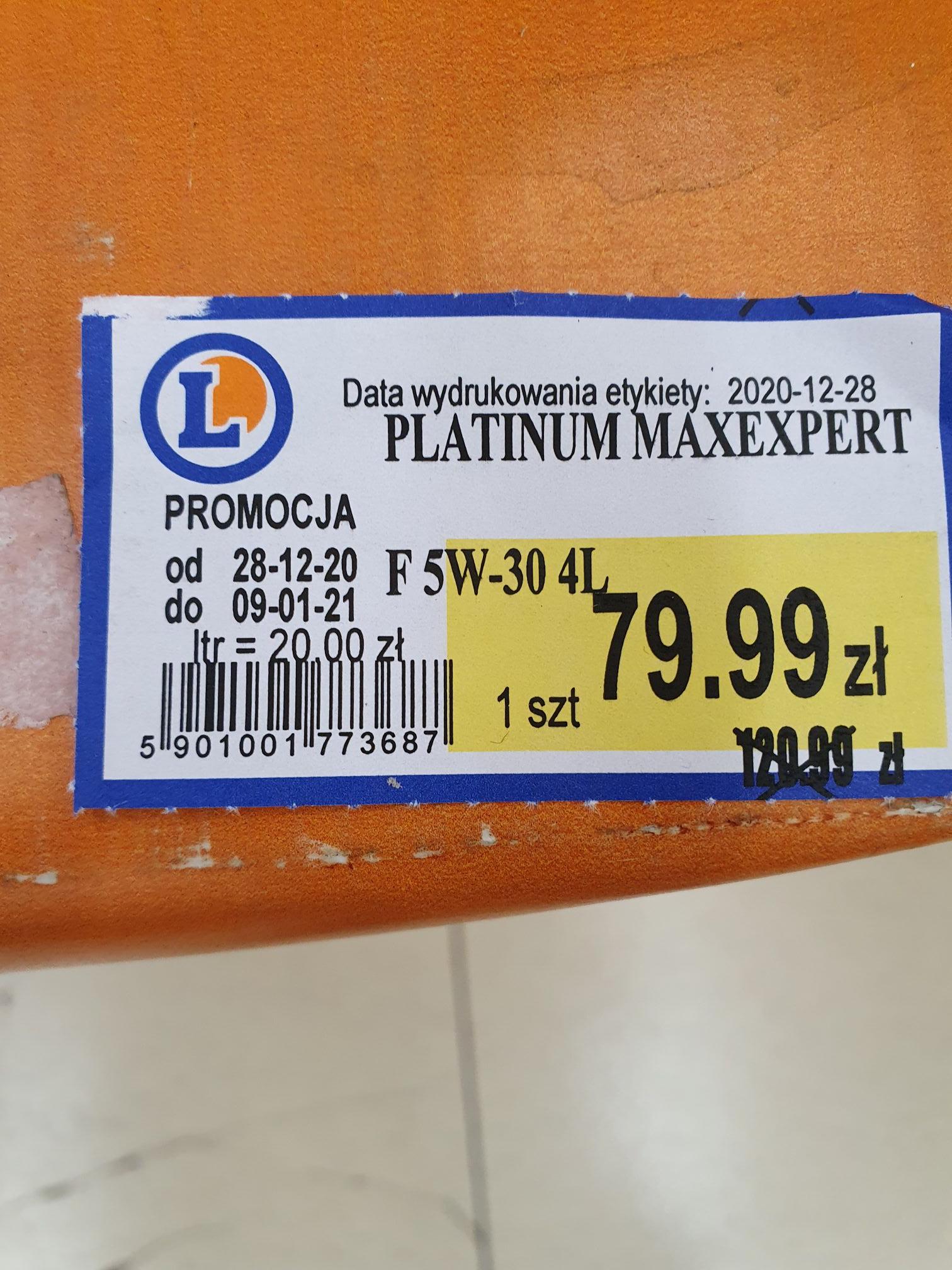 Platinium Maxexpert Olej silnikowy
