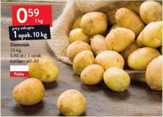 Ziemniaki 10 kg (0,59 zł/kg) @Intermarche
