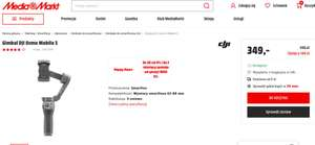 Gimbal DJI OSMO MOBILE 3 - dobra cena w MM Happy Hours