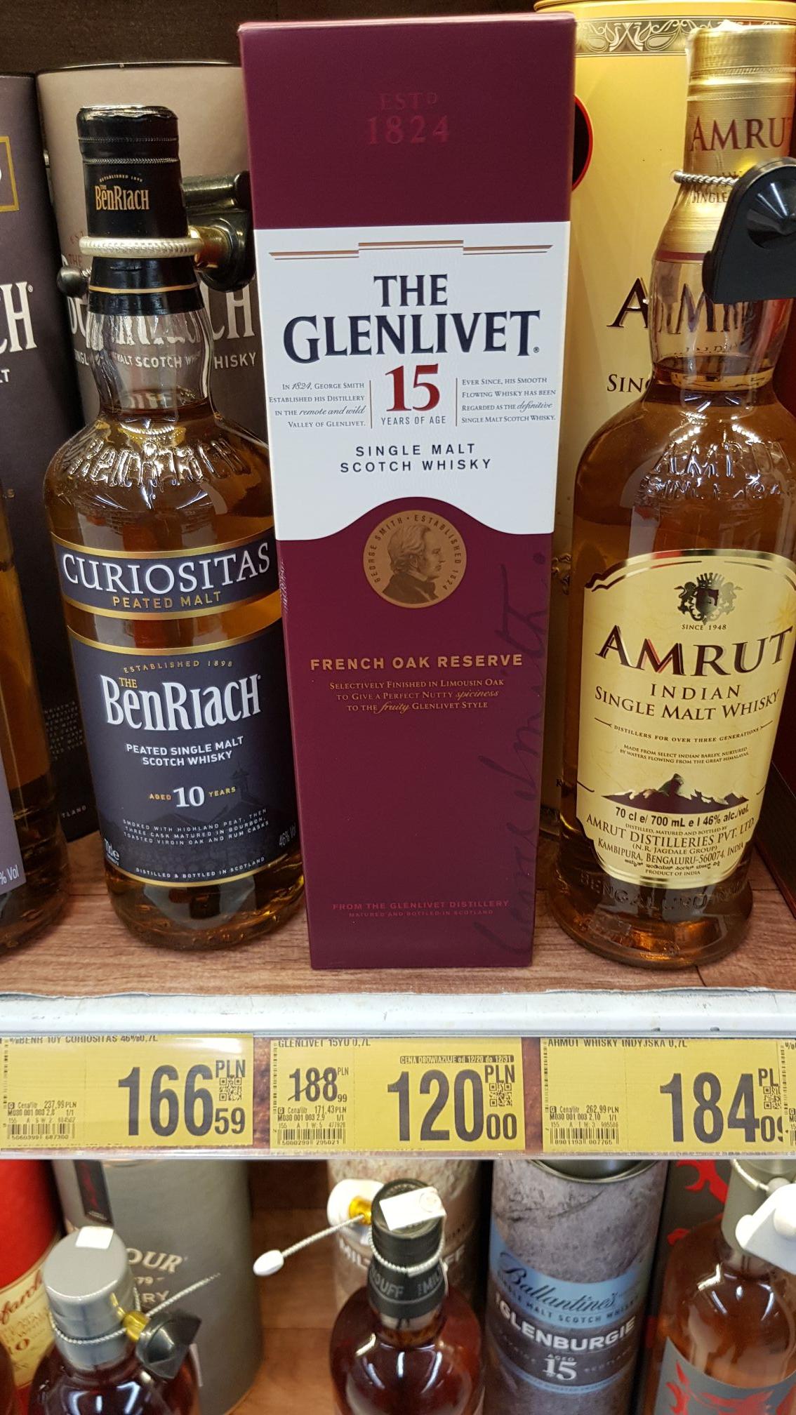 Whisky Glenlivet 15yo Auchan