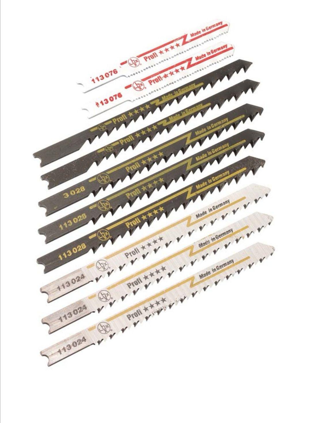 LUX Komplet brzeszczotów do wyrzynarki z uchwytem U 10 szt. Obi