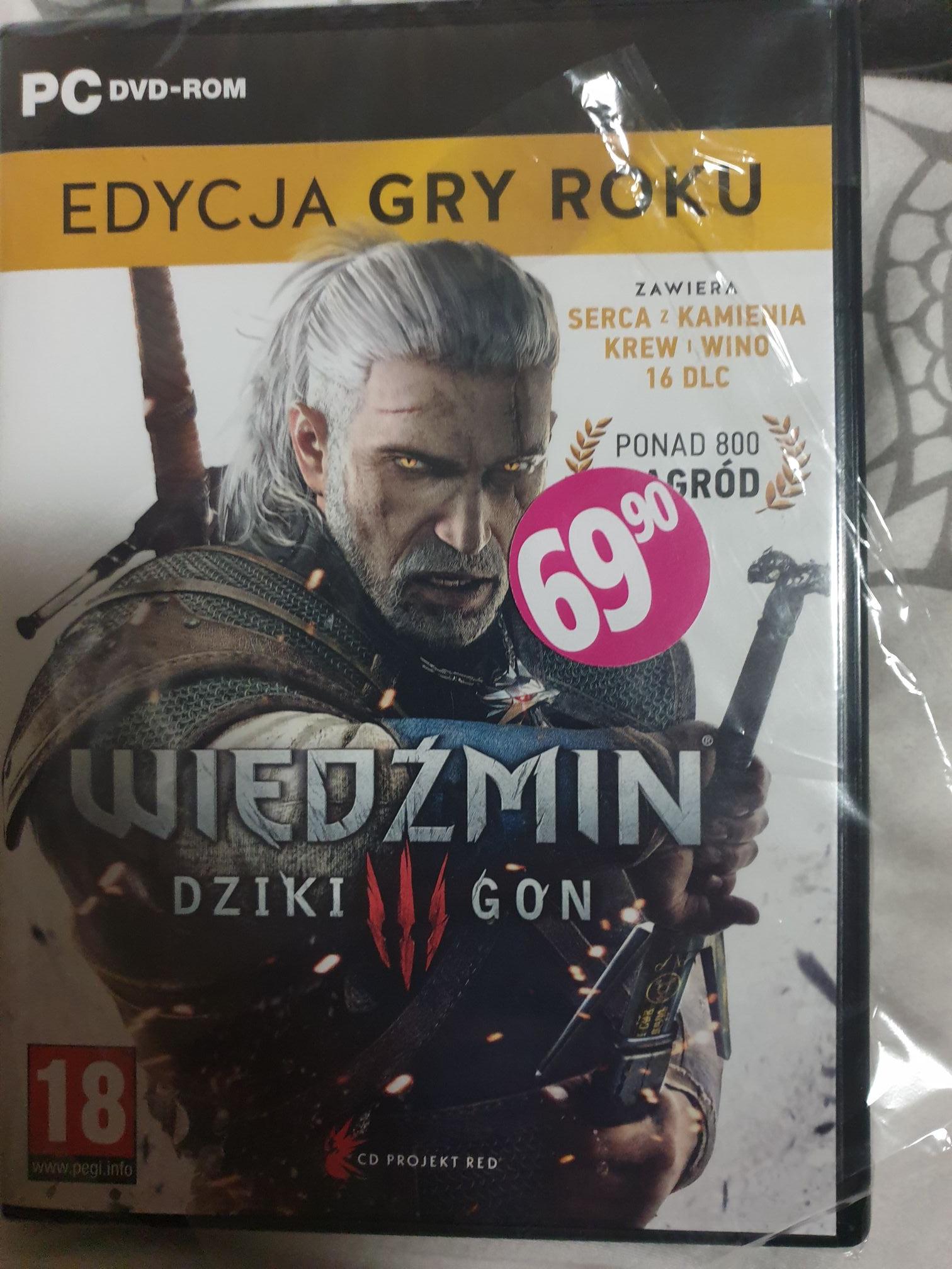 Wiedźmin 3 GOTY PC w Biedronce wersja pudełkowa chyba najtaniej w historii! + inne gry również w ultrapromce