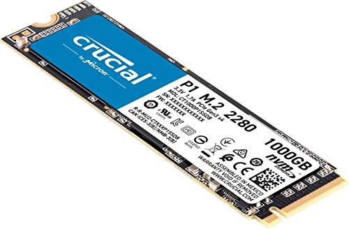 Dysk SSD Crucial P1 NVMe PCIe M.2 1TB 81,66 euro