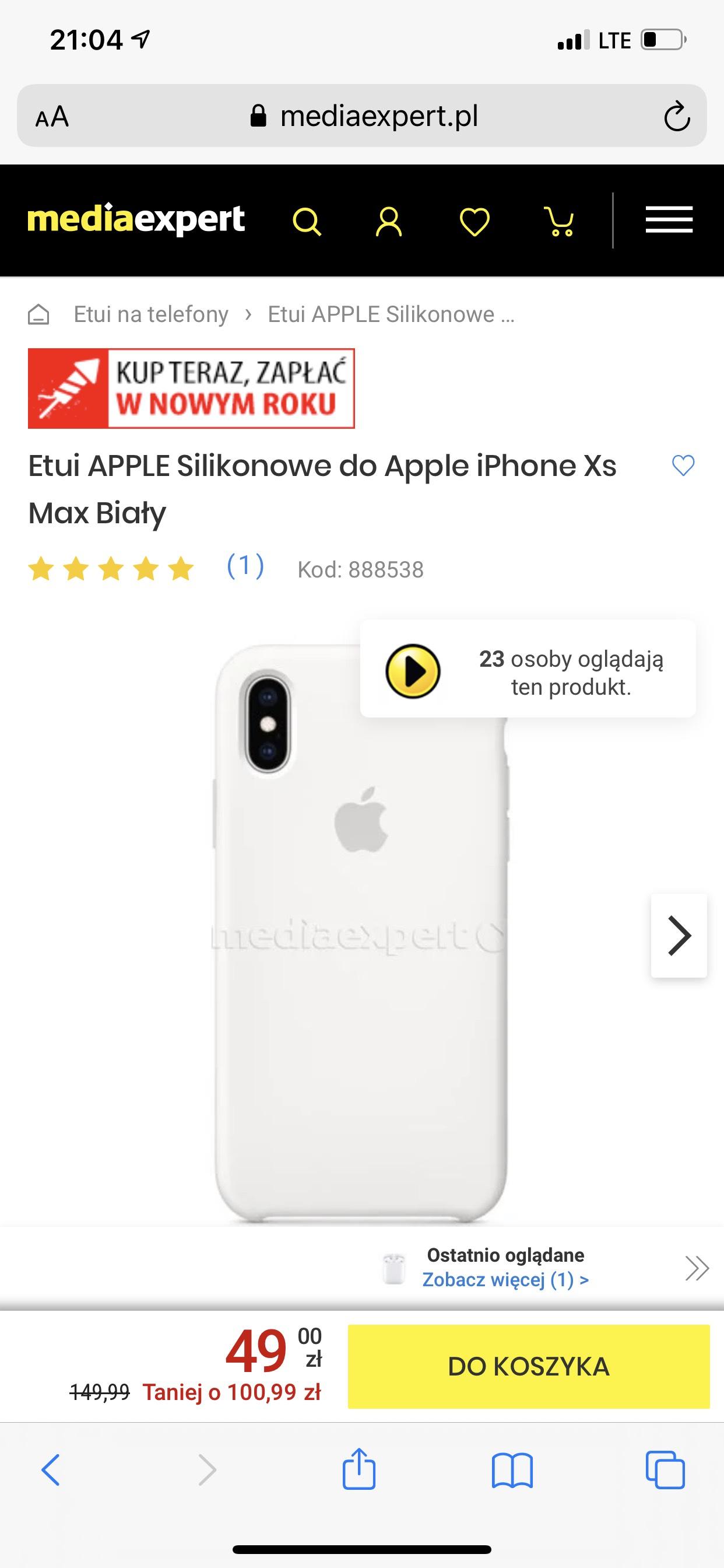 Oryginalne etui Apple do iPhone xsMax