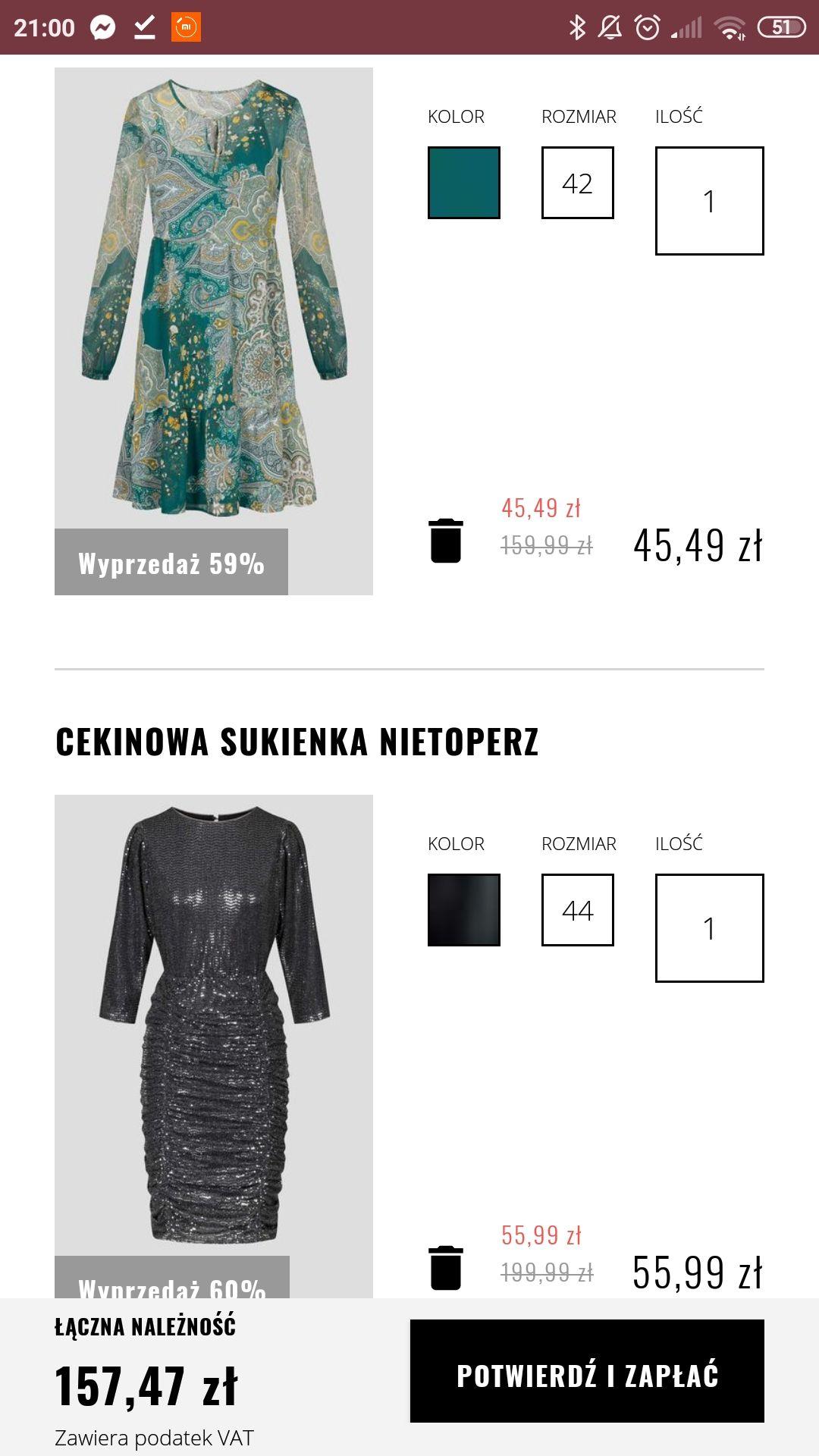 Bluzki i sukienki - 30% (dotyczy produktów z ceną regularna jak i z wyprzedaży)