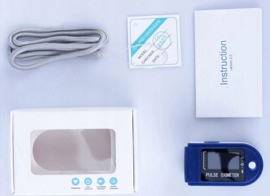 Pulsoksymetr Napalcowy Niebieski