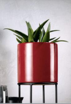 Doniczka Ceramiczna z metalowym stojakiem