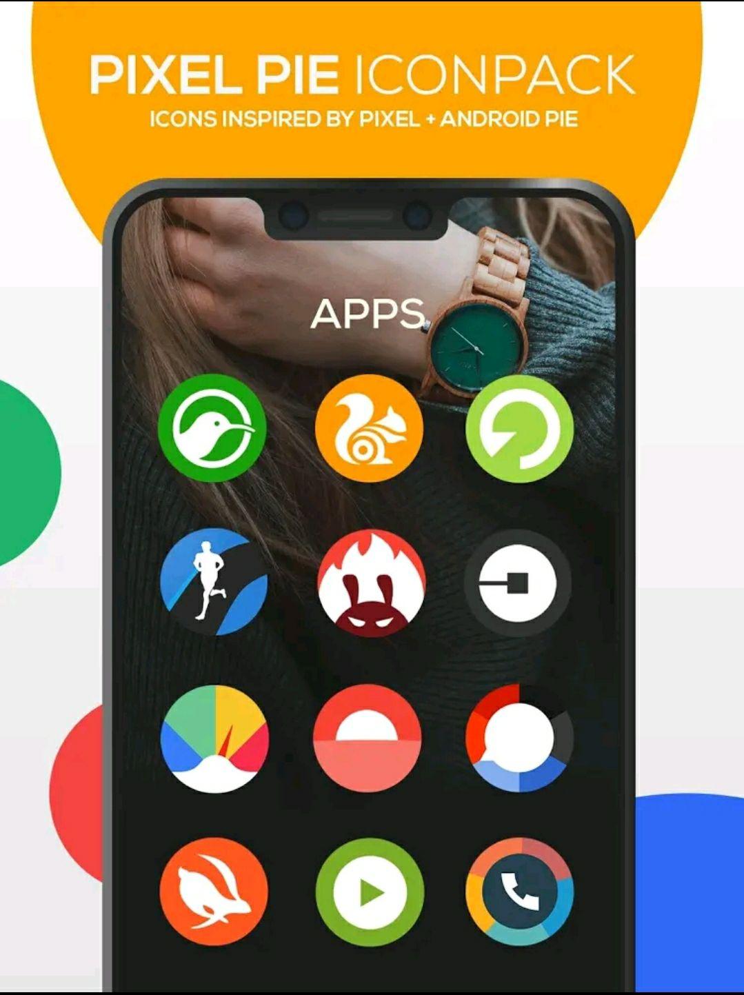 Zestaw ikon - Pixel Pie Icon Pack ; Pixel Pie Dark Icon Pack ; BOLT Icon Pack