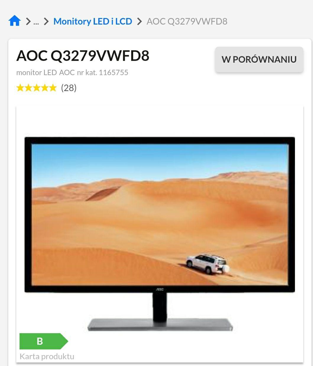 Monitor AOC Q3279VWFD8 raty 0%