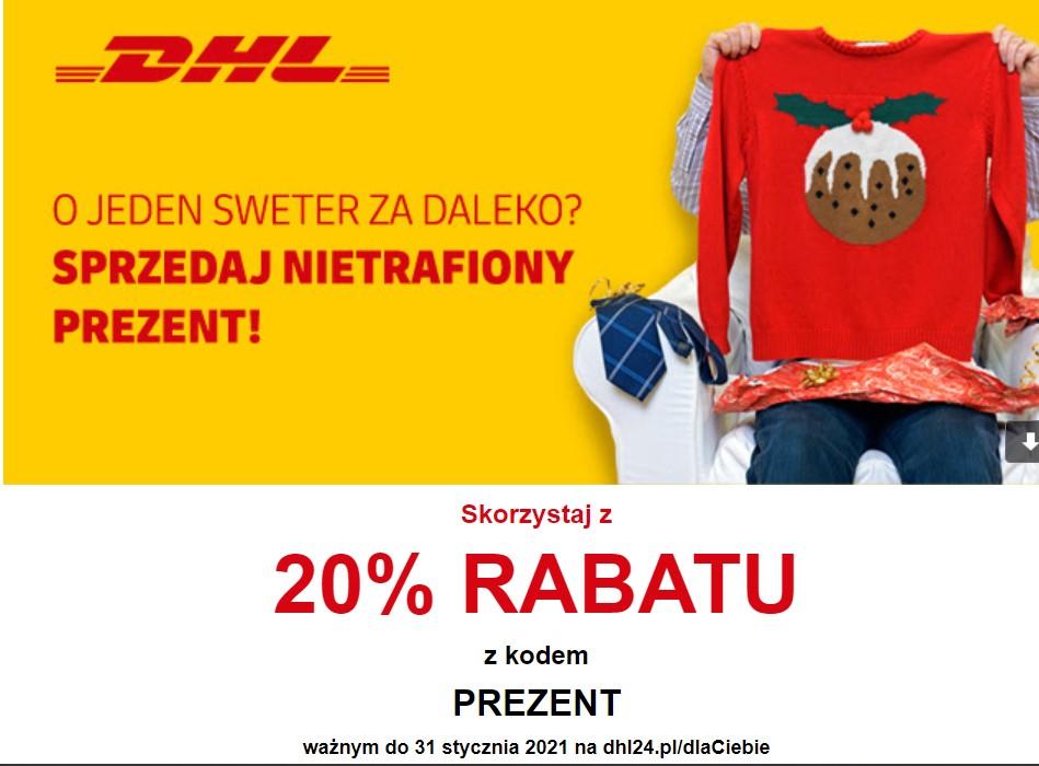 DHL minus - 20% z kodem PREZENT