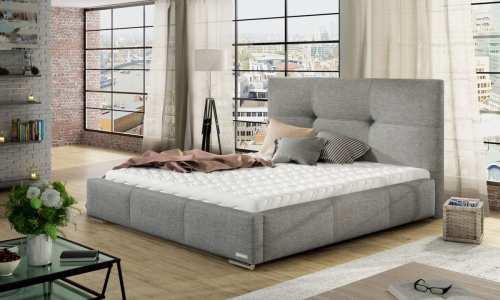 Łóżko tapicerowane z podnoszeniem i MATERACEM