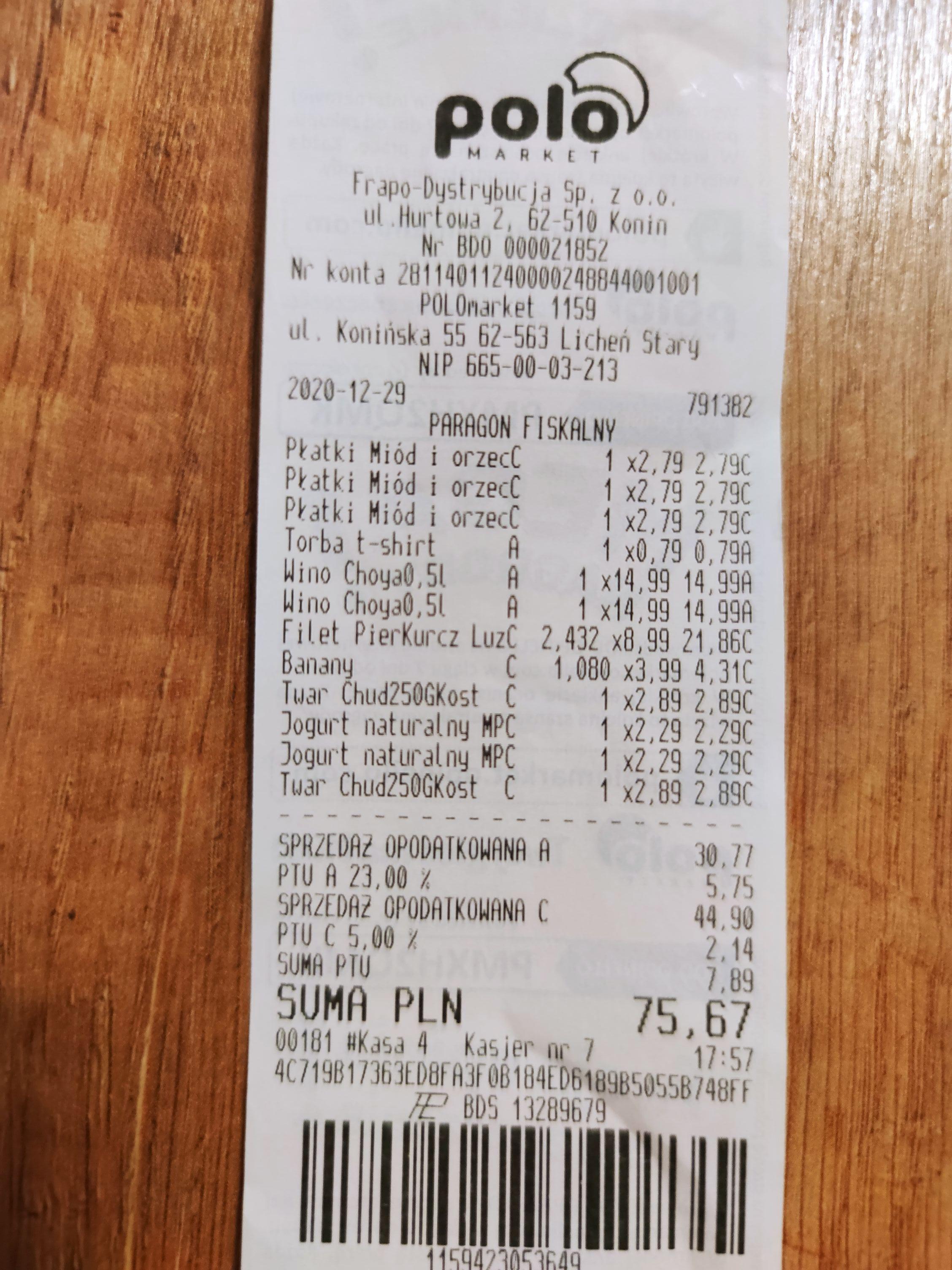 1kg filet z kurczaka za 8.99 POLO