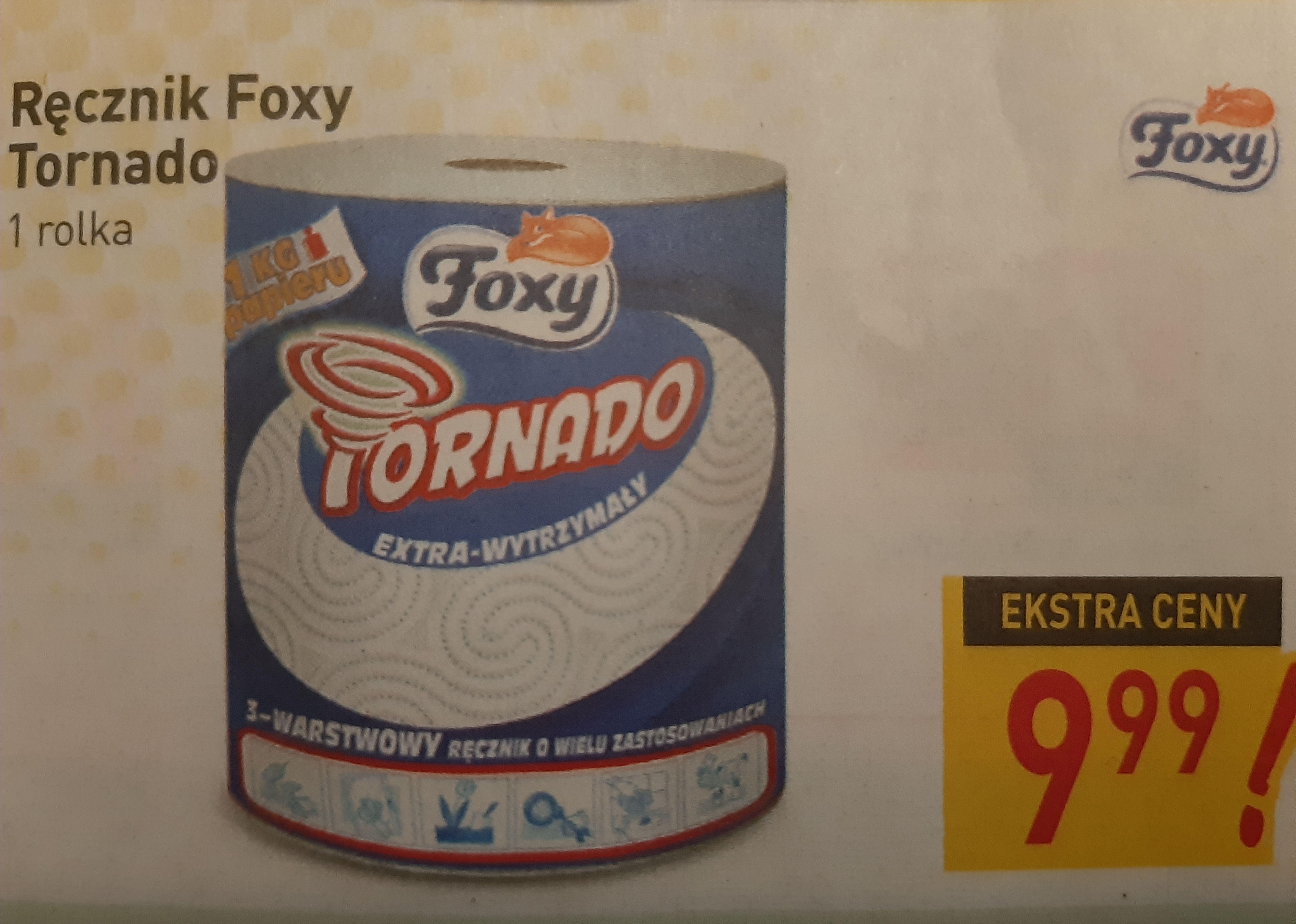 Ręcznik Foxy Tornado 1 kg gruby 3 warstwy za 9,99 w marketach Stokrotka