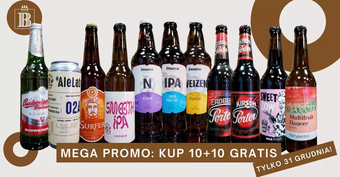 Piwa 10+10 gratis w sklepach Bimbeer, Gdańsk i Sopot