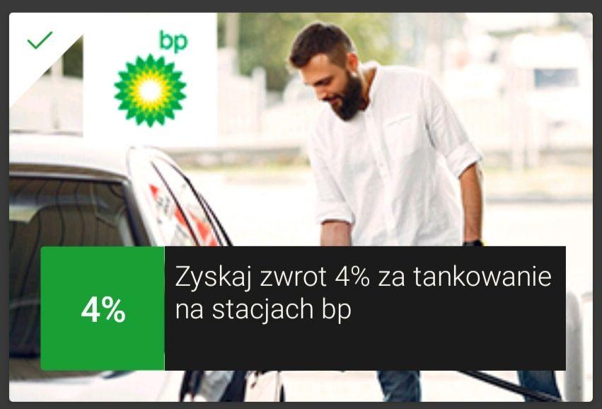 mOkazja mbank 4% zwrotu na stacjach BP cashback
