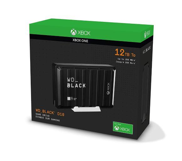 Dysk zewnętrzny WD BLACK D10 Game Drive for Xbox One 12TB + 3 msc GPU