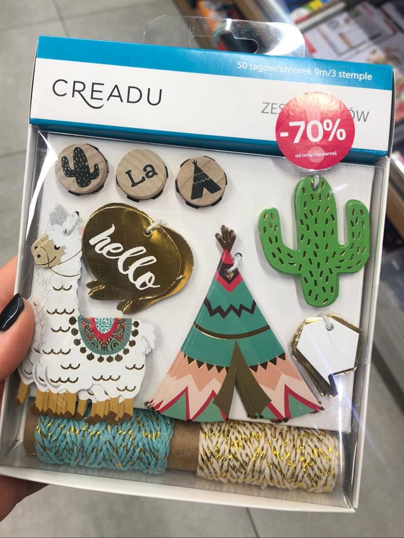 Zestawy tagów Creadu w Empik Jednorożec, Lama, Kaktus
