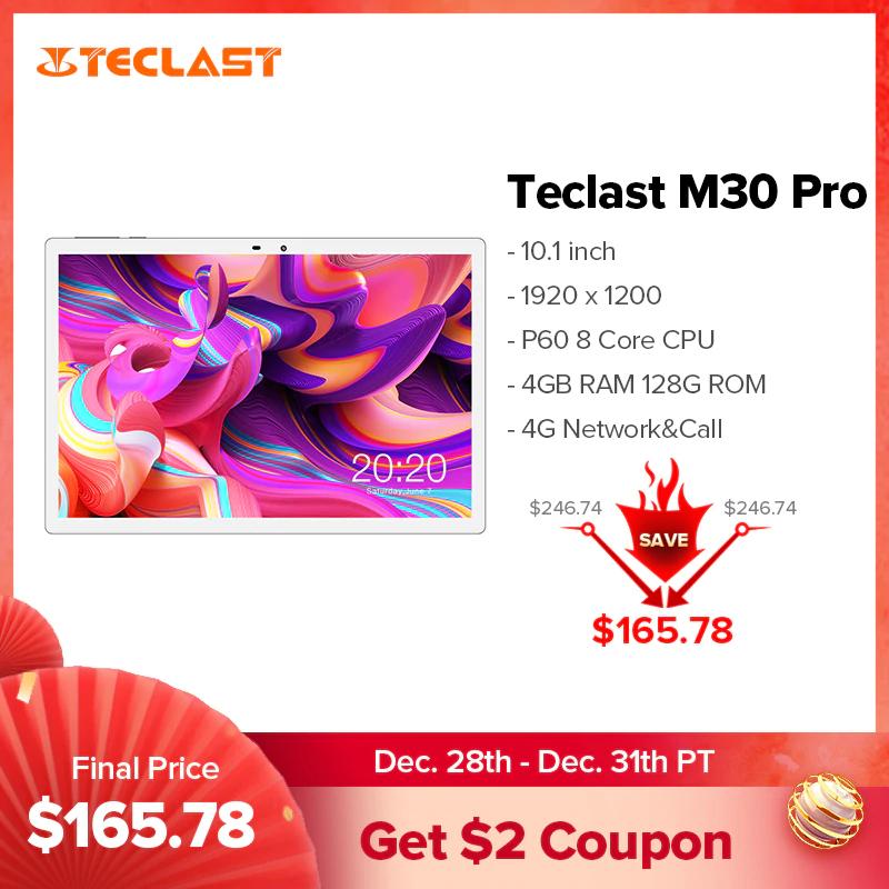 """Tablet Teclast M30 Pro (metalowa obudowa, 10.1"""" IPS FHD, LTE, Octa Core, 4/128GB, A10) z Hiszpanii @AliExpress"""