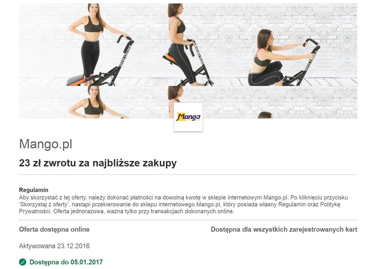 Darmowe zakupy w Mango.pl